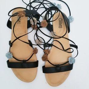 Sandals Carlos by Carlos Santana Womens Gia Flat